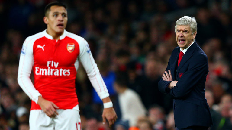 Alexis Sanchez and Arsene Wenger